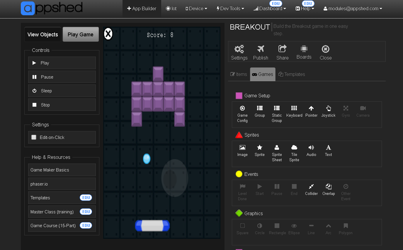 game maker breakout
